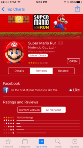 Super Mario Run Reviews