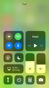 Blog iOS Control Center New